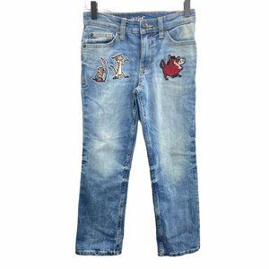 Cat & Jack The Lion King Character Patches Jeans 8